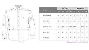 Size Chart Dress Shirt Men Product Size Chart Blavk Singapores Label Blavk Sizes