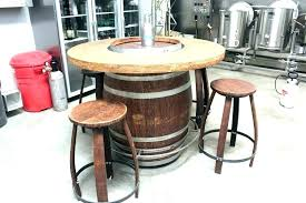 keg bar stools whiskey barrel table outdoor beer cap destiny polished stool for uns