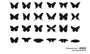 スタンダードな蝶の素材 シルエットデザイン