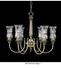 waterford crystal antique brass whittaker six arm chandelier 850 126 24 00 photo