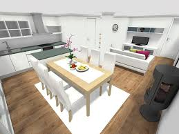 image of small house open floor plan dining
