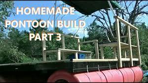 homemade pontoon dock boat barge build part 3
