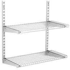 awesome rubbermaid wire shelving home free satin nickel add on 2 shelf kit at installation