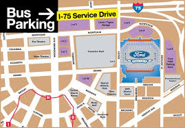 Ford Field Parking Maps Of This Map Or If These