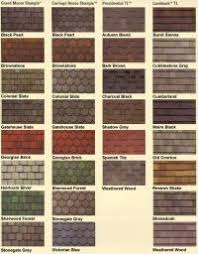 Shingle Color Comparison Chart Smokey Mountain