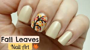 Easy Fall Nail Designs For Beginners Easy Fall Leaves Nail Art Design