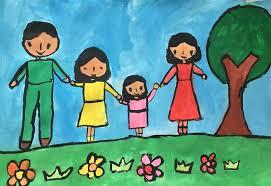 Khung cảnh gia đình qua nét vẽ của bé - VnExpress Đời sống