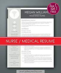 Nurse Resume Template Medical Resume Nursing Resume Rn Resume