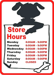 printable store hours sign store hour signs hours sign signage suhogar
