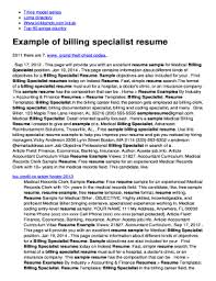 tax specialist resume printable billing specialist resume edit fill out download
