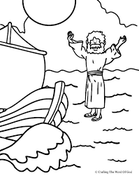 Jesus Walks On Water Coloring Page Crafting The Word Of God