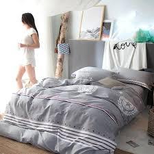 striped duvet cover king grey cotton duvet cover bed sheets pillow case for men striped duvet striped duvet cover