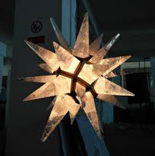 rock star quartz crystal star art pendant lamp chandelier led light decorative lighting