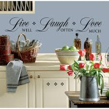 Peel And Stick Wall Decor Roommates Live Well Laugh Often Love Much Peel And Stick Wall