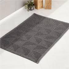 malta grey bath mat