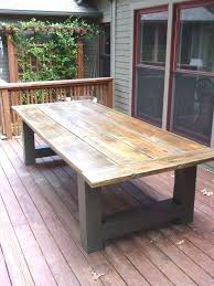 Design Best 25 Outdoor Tables Ideas On Pinterest Of Diy Wood Patio Furniture