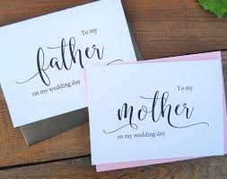 To My Mother Card To My Father Card Mother Of The Bride Card