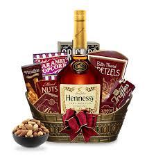 hennessy vs cognac gift basket engravable