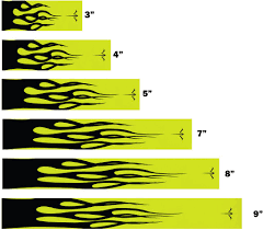 Fluorescent Neon Yellow With Flames Arrow Wraps