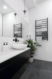 Exciting Black And White Tile Bathroom Best Floor Ideas On Powder