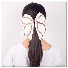 2019 girls leather glitter large cheer bow softball baseball hair ponytail holder from milla 1 6 dhgate com