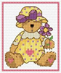 Dmc Lesley Teare Teddy Chart Download Free Cross Stitch