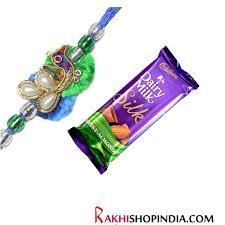 mayur bhai rakhi with chocolate