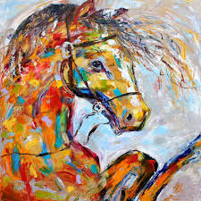 professional artist hand painted high quality modern abstract horse oil painting on canvas abstract horse