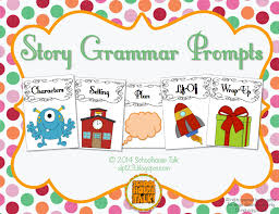 Story Grammar Schoolhouse Talk Narrative Language Intervention Resources