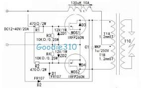 hv image 13 circuit of the commercial flyback driver source goodie310