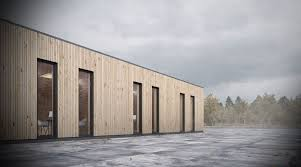 wooden office buildings. Design Proposal For The New Office Building A Trucking Company. Left Side Of Is Employees While Right Used Wooden Buildings