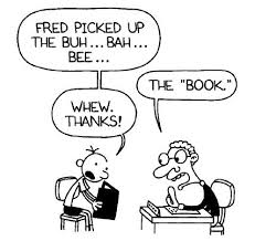 Image result for wimpy kid reading cartoon