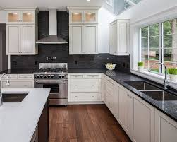 kitchen ideas white cabinets black countertop black andwhite kitchen renos with backsplash ideas for granite countertops