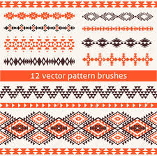 navajo border designs. Set Of Ethnic Navajo Style Vector Pattern Brushes. Geometric Borders, Templates For Your Design Border Designs R