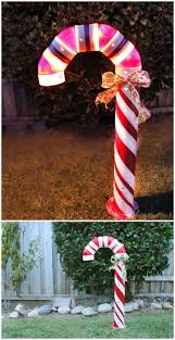 Big Candy Cane Decorations 60 Impossibly Creative DIY Outdoor Christmas Decorations DIY 36