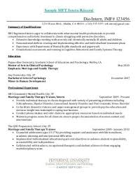Sample Psychology Intern Cover Letter Pepperdine University