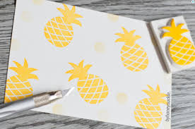 custom fabric stamp. Delighful Custom Pineapple Rubber Stamp To Custom Fabric D