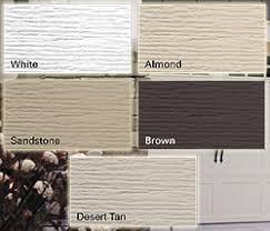 almond garage doorStandard garage doors colors White Almond Brown Sandstone and Grey