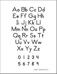 Handwriting A To Z Chart Zb Style Manuscript Abcteach