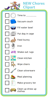 Make A Chore List New Chore Chart Clipart The Trip Clip Blog Make Any List