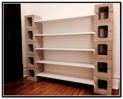 Diy Cinder Block Shelves Home Design Ideas