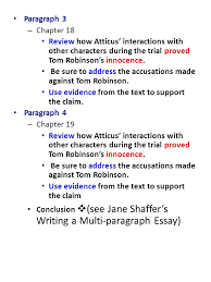 to kill a mockingbird essay writing ppt video online  4 paragraph