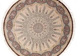 large round qom silk persian rugs with 800kpsi 8 039 round pure silk