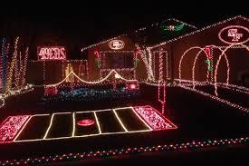 49er Lights A 49ers Themed Christmas Display Might Help Us On An