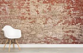 red brick wall mural weathered brick