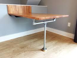 diy ikea wall floor mounted table