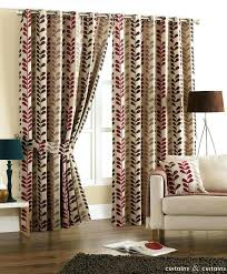 beige striped curtains pinch pleated cotton jacquard