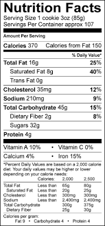 m m chocolate chip nutrition facts