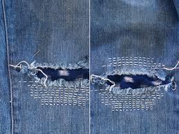 Diy Sashiko Denim Repair Boro Honestly Wtf