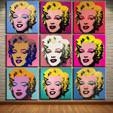 dp artisan andy warhol 9pcs marilyn monroe wall art oil painting prints painting on canvas no